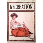 Recreation, August, 1908. Poster Print. John Sheridan.