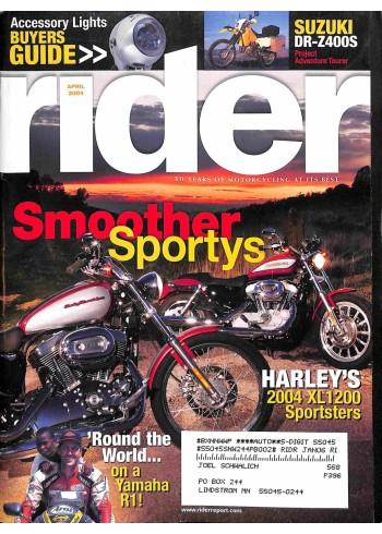 Rider, April 2004