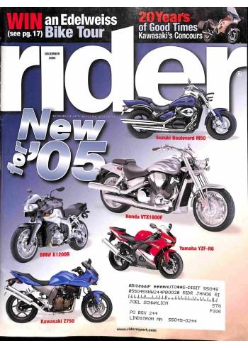 Rider, December 2004