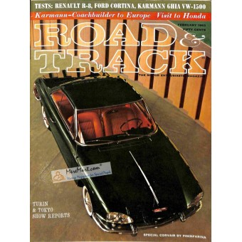 Cover Print of Road and Track Magazine, February 1963