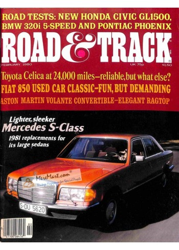 Cover Print of Road and Track, February 1980