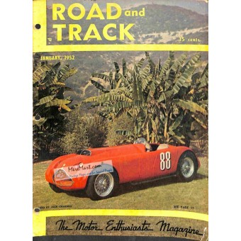 Cover Print of Road and Track Magazine, January 1952