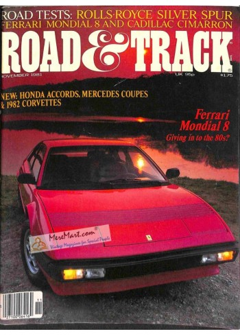 Cover Print of Road and Track, November 1981