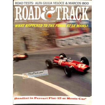 Cover Print of Road and Track Magazine, September 1965