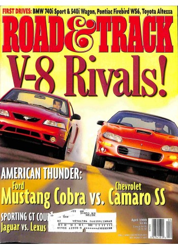 Cover Print of Road and Track, April 1999