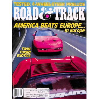 Road and Track, August 1987