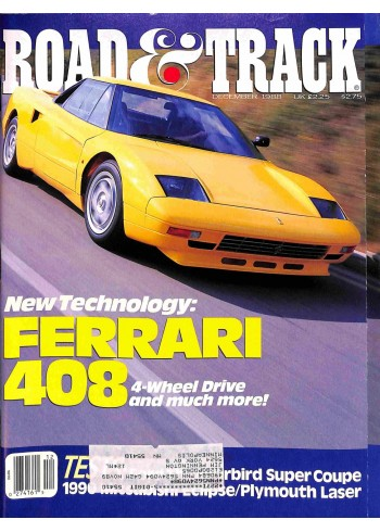 Cover Print of Road and Track, December 1988