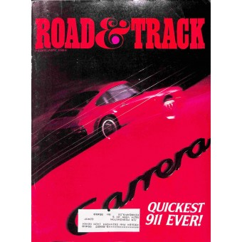 Cover Print of Road and Track, February 1984