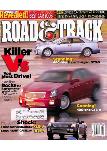 Cover Print of Road and Track, February 2005