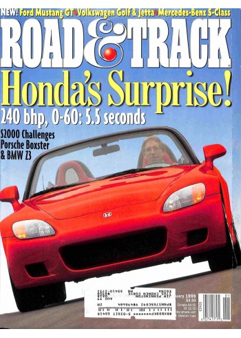 Cover Print of Road and Track, January 1999