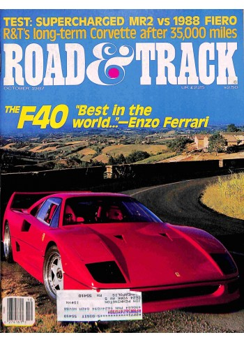 Cover Print of Road and Track, October 1987