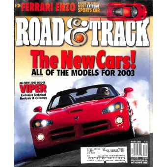 Cover Print of Road & Track Magazine, October 2002