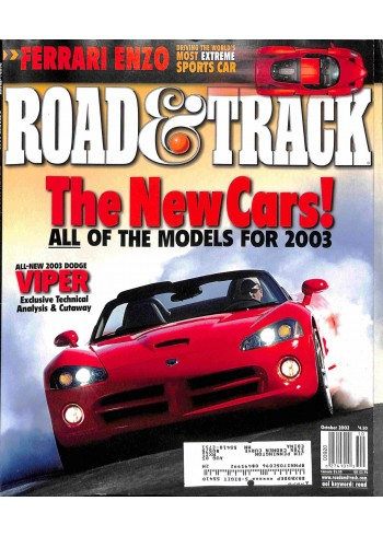 Cover Print of Road and Track, October 2002