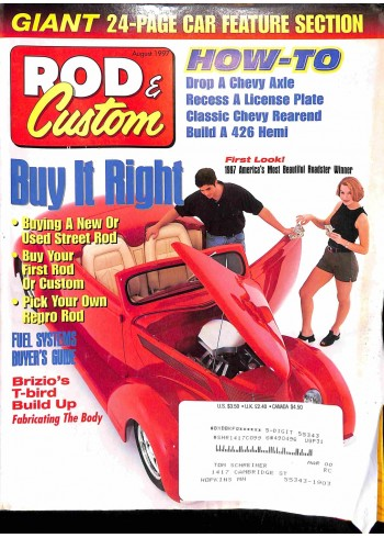 Rod and Custom, August 1997