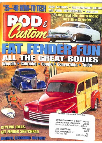 Cover Print of Rod and Custom, October 1998