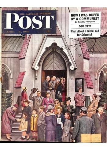 Cover Print of Saturday Evening Post, April 16 1949