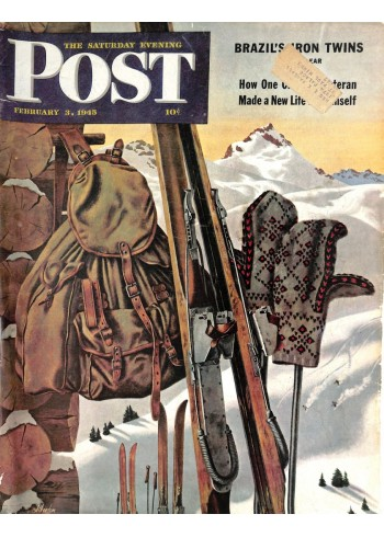 Cover Print of Saturday Evening Post, February 3 1945