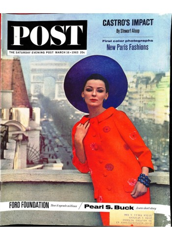 Cover Print of Saturday Evening Post, March 16 1963
