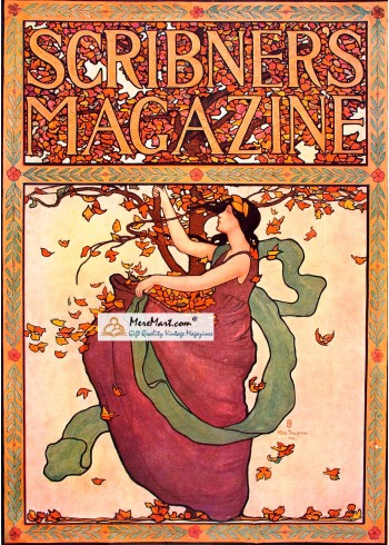 Scribners Magazine, October, 1902. Poster Print. Mills Thompson.