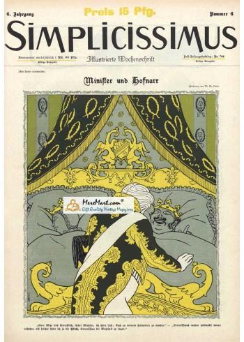Simplicissimus, January 6, . Poster Print.
