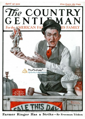The Country Gentleman, April 29, 1922. Poster Print. Norman Rockwell.