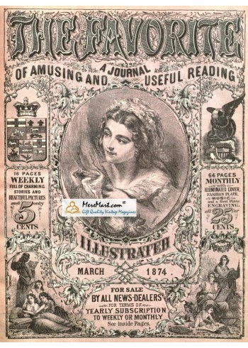 The Favorive, March, 1874. Poster Print.