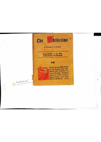 The Philistine, December 1908