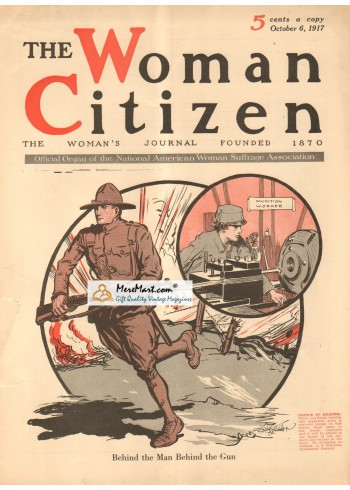 The Woman Citizen, October 6, 1917. Poster Print.