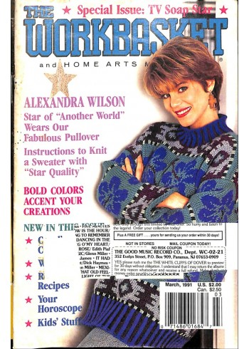 Cover Print of The Workbasket, March 1991