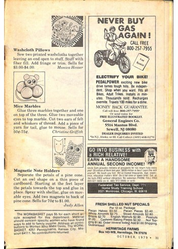Cover Print of The Workbasket, October 1979