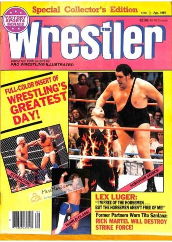 Cover Print of The Wrestler, April 1988