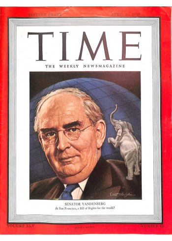 Cover Print of Time, April 30 1945