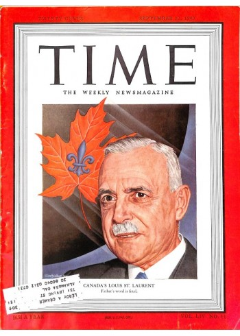 Cover Print of Time, September 12 1949