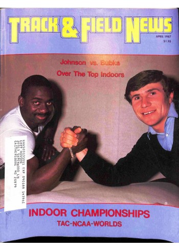 Cover Print of Track And Field News, April 1987