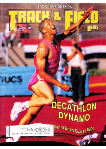 Cover Print of Track And Field News, August 1991