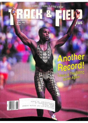Cover Print of Track And Field News, June 1992