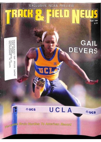 Cover Print of Track And Field News, May 1988