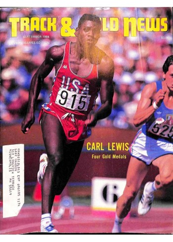 Cover Print of Track And Field News, September 1984