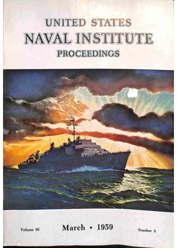 Cover Print of US Naval Institute Proceedings, March 1959