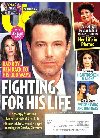 Cover Print of US Weekly, September 3 2018