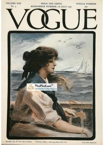 Vogue, July 18, 1907. Poster Print.