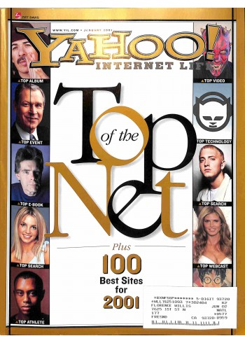 Cover Print of Yahoo! Internet Life, January 2001