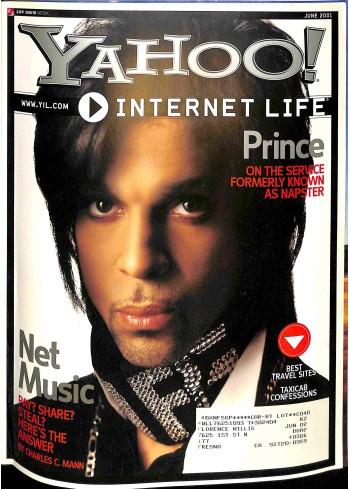 Cover Print of Yahoo! Internet Life, June 2001