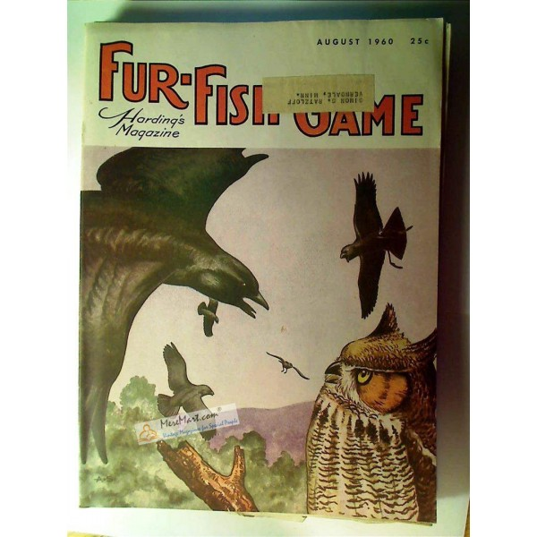 Fur fish game magazine august 1960 for Fur fish and game